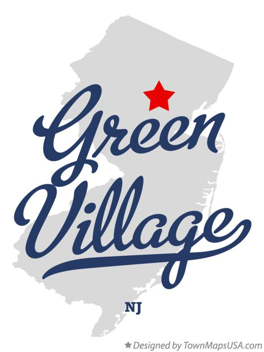 Map of Green Village New Jersey NJ