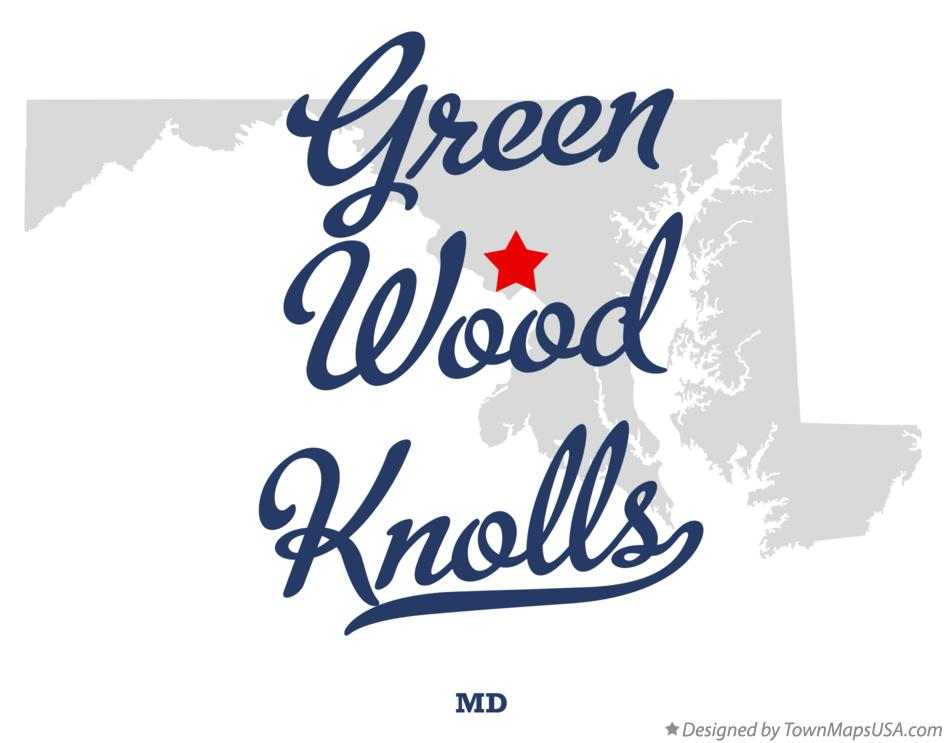 Map of Green Wood Knolls Maryland MD