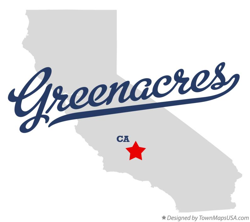 Map of Greenacres California CA