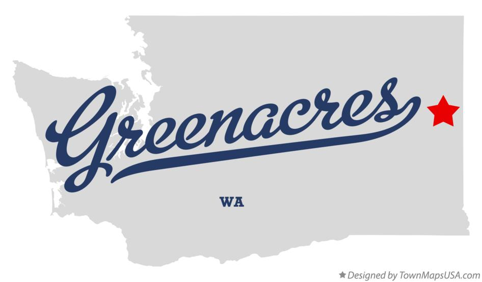 Map of Greenacres Washington WA