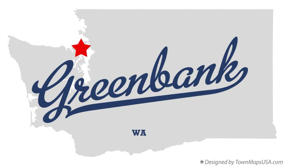 Map of Greenbank Washington WA