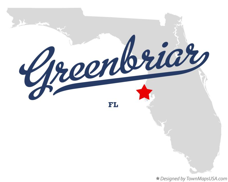 Map of Greenbriar Florida FL