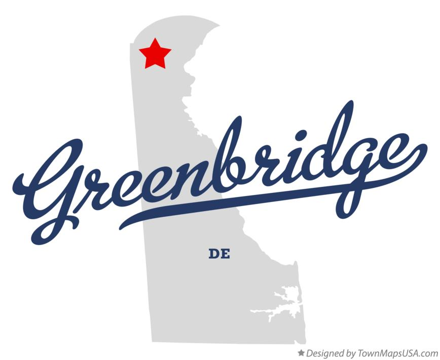 Map of Greenbridge Delaware DE