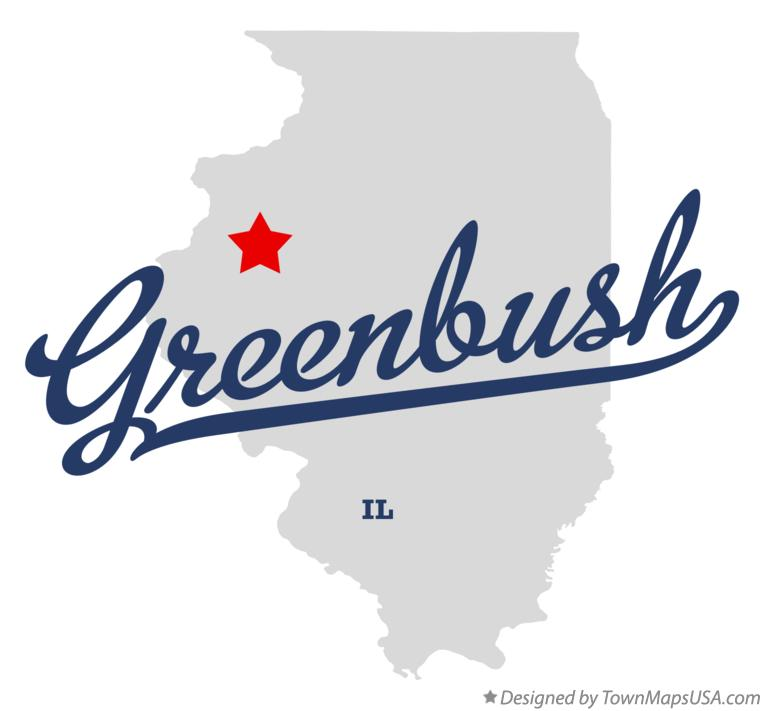 Map of Greenbush Illinois IL