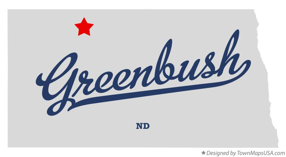 Map of Greenbush North Dakota ND
