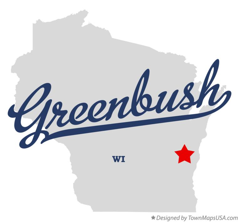 Map of Greenbush Wisconsin WI
