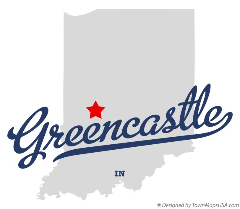 Map of Greencastle Indiana IN