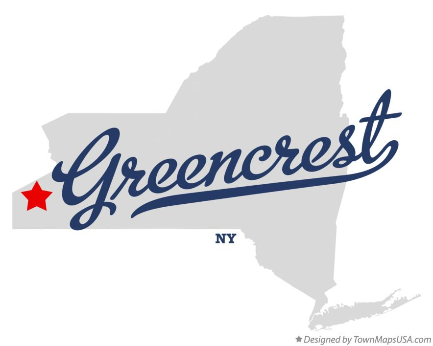 Map of Greencrest New York NY