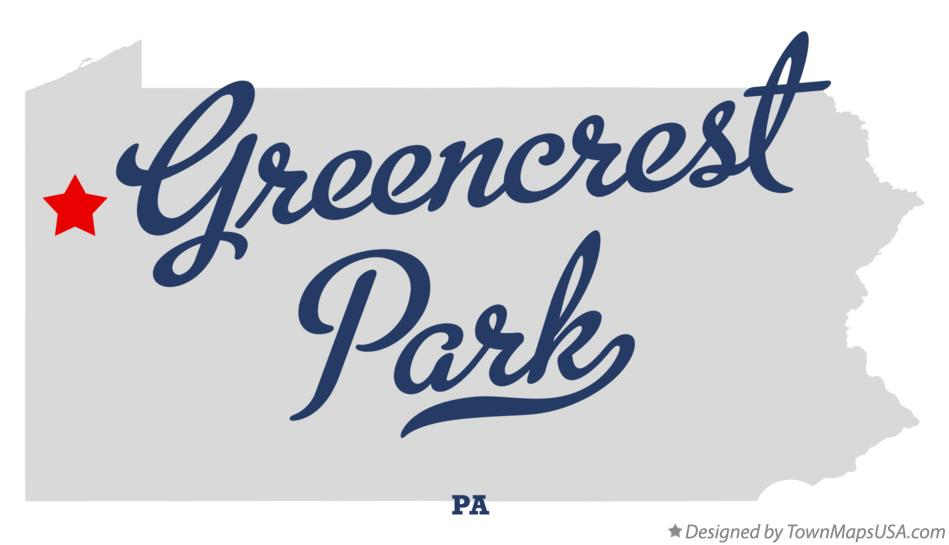 Map of Greencrest Park Pennsylvania PA