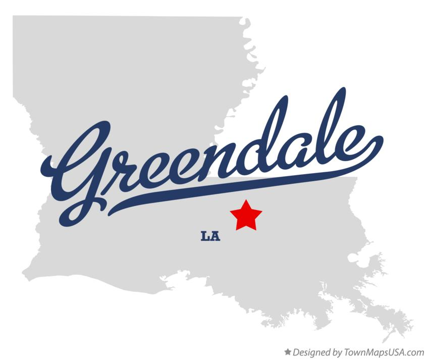 Map of Greendale Louisiana LA