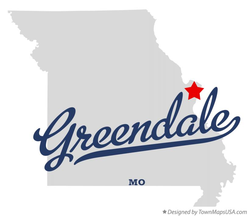 Map of Greendale Missouri MO