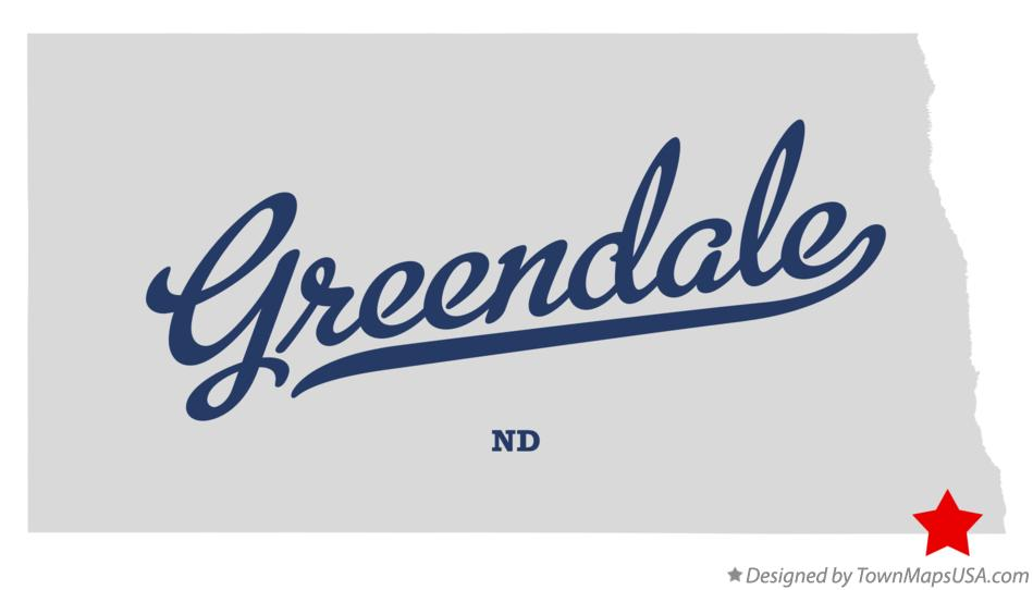 Map of Greendale North Dakota ND
