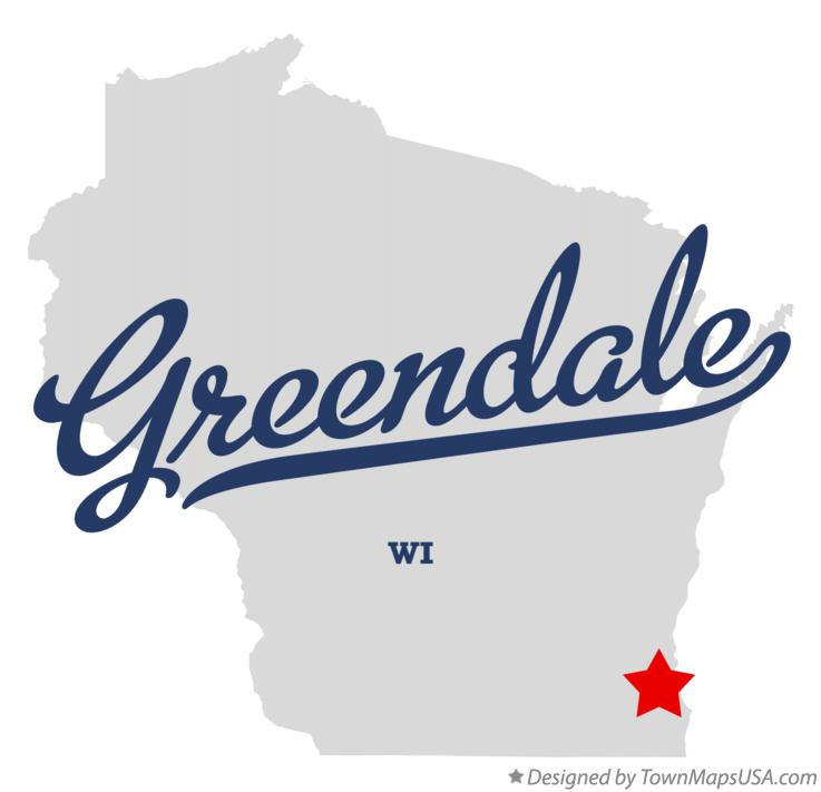 Map of Greendale Wisconsin WI