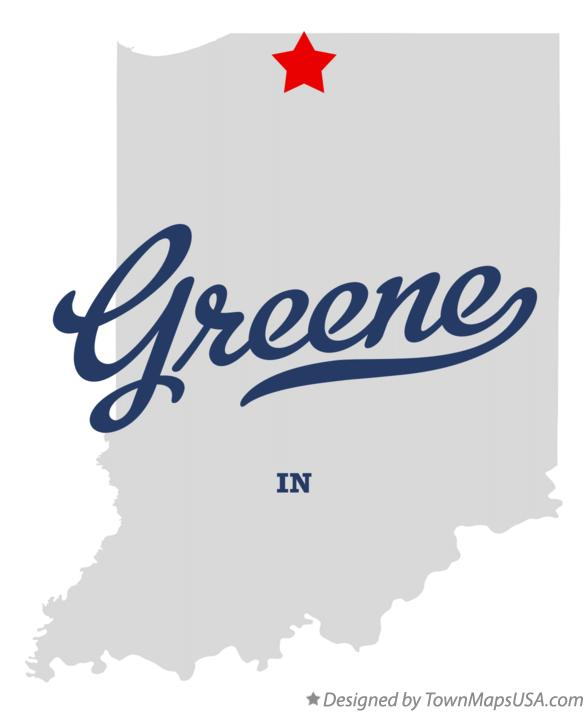 Map of Greene Indiana IN