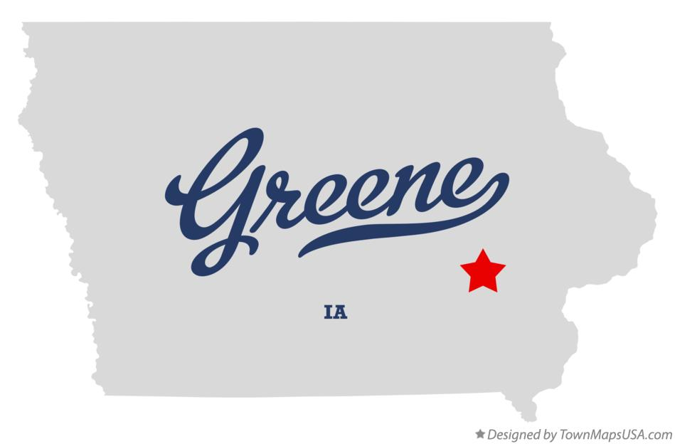 Map of Greene Iowa IA
