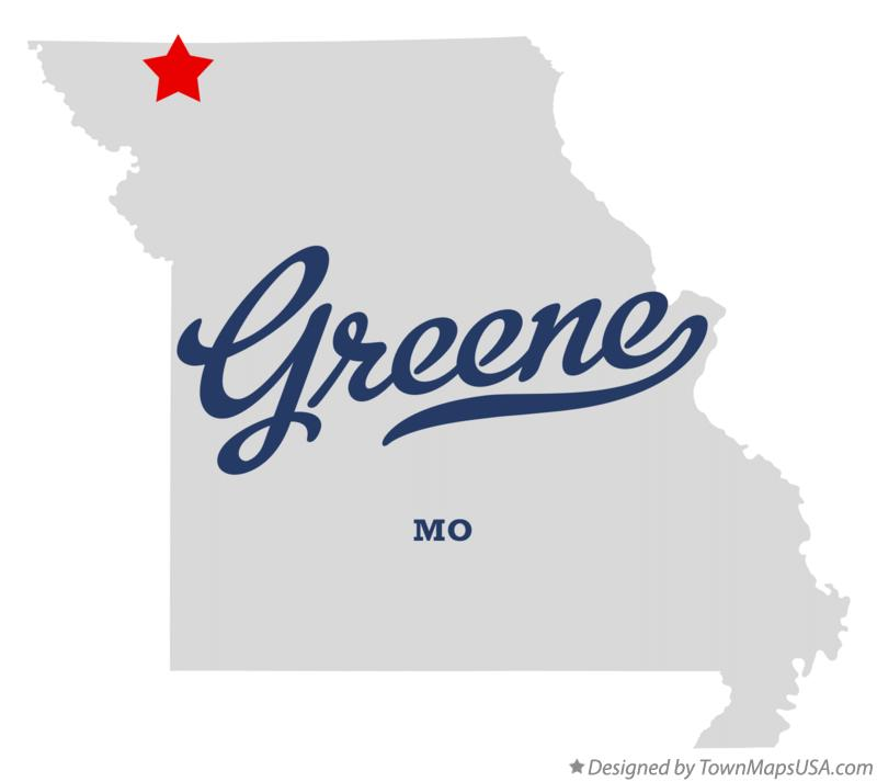 Map of Greene Missouri MO