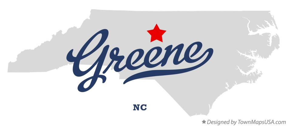 Map of Greene North Carolina NC