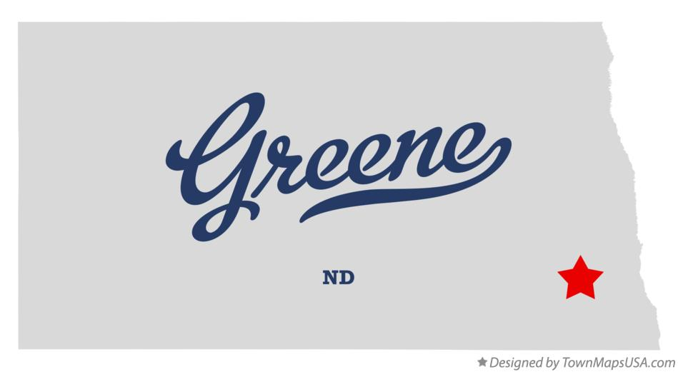 Map of Greene North Dakota ND