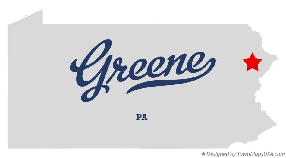 Map of Greene Pennsylvania PA