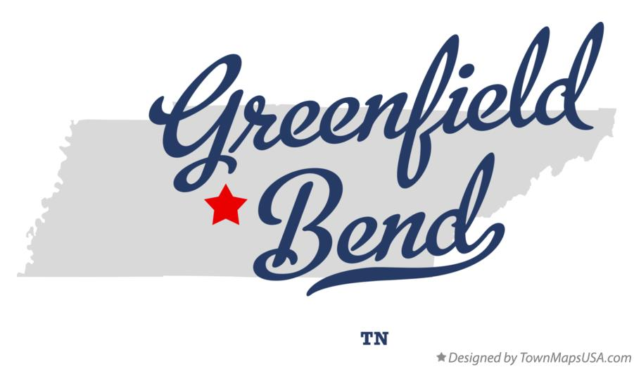 Map of Greenfield Bend Tennessee TN