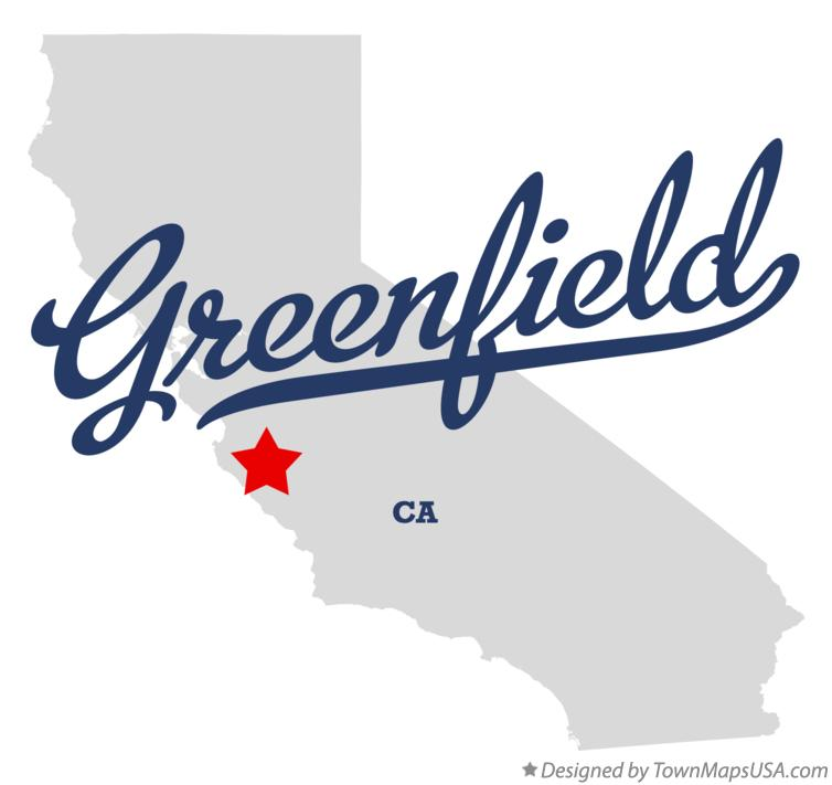 Map of Greenfield California CA