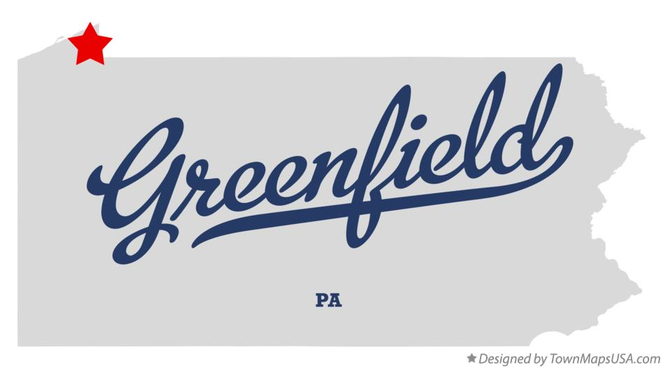 Map of Greenfield Pennsylvania PA