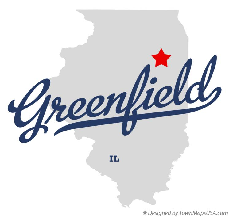 Map of Greenfield Illinois IL