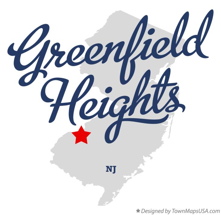 Map of Greenfield Heights New Jersey NJ