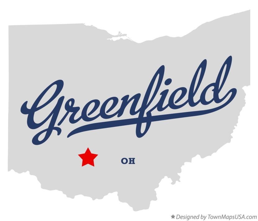 Map of Greenfield Ohio OH