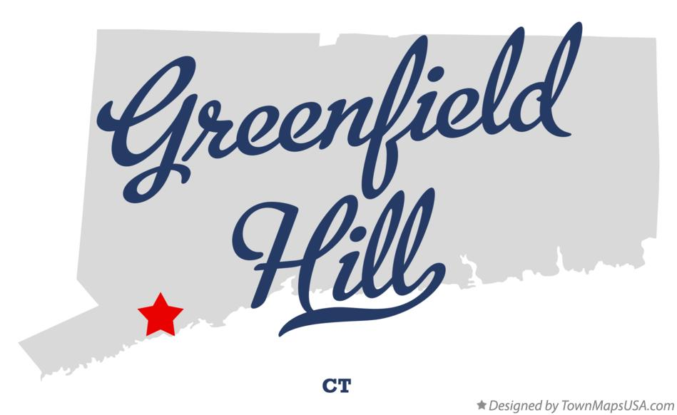 Map of Greenfield Hill Connecticut CT