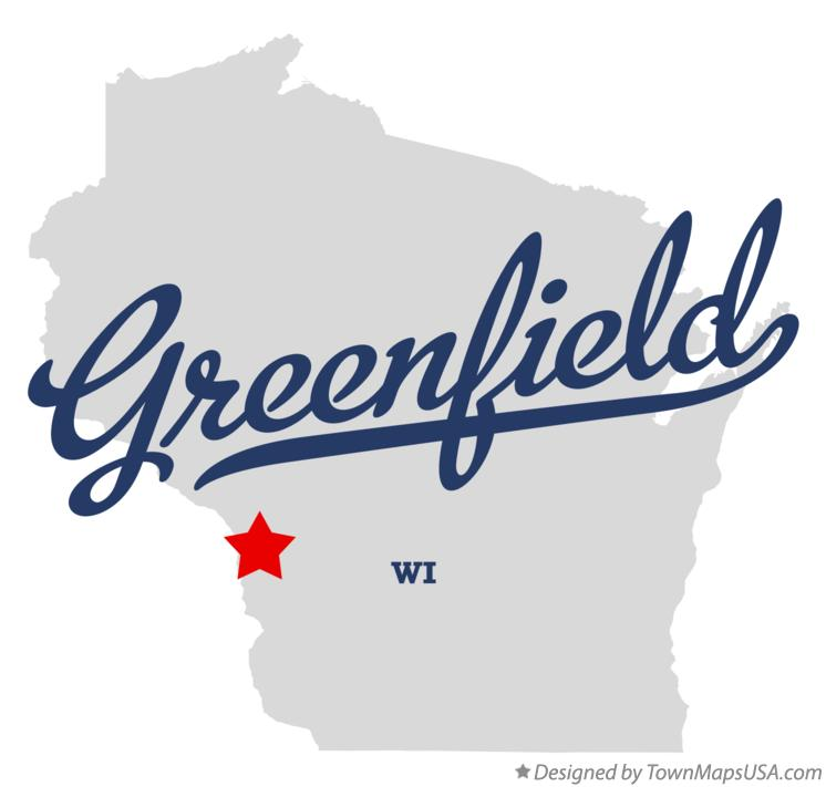 Map of Greenfield Wisconsin WI