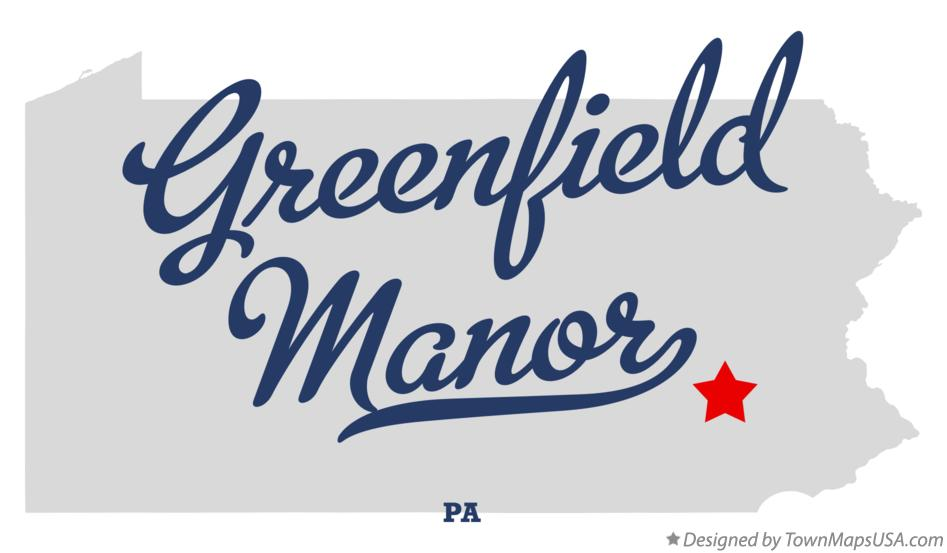Map of Greenfield Manor Pennsylvania PA