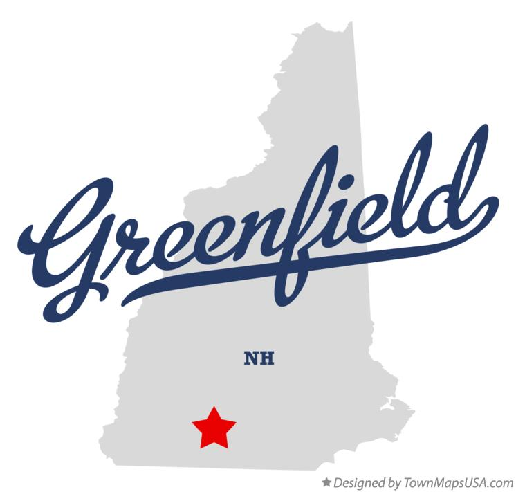 Map of Greenfield New Hampshire NH