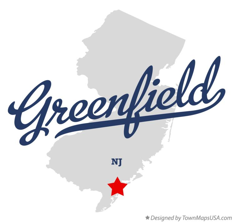 Map of Greenfield New Jersey NJ