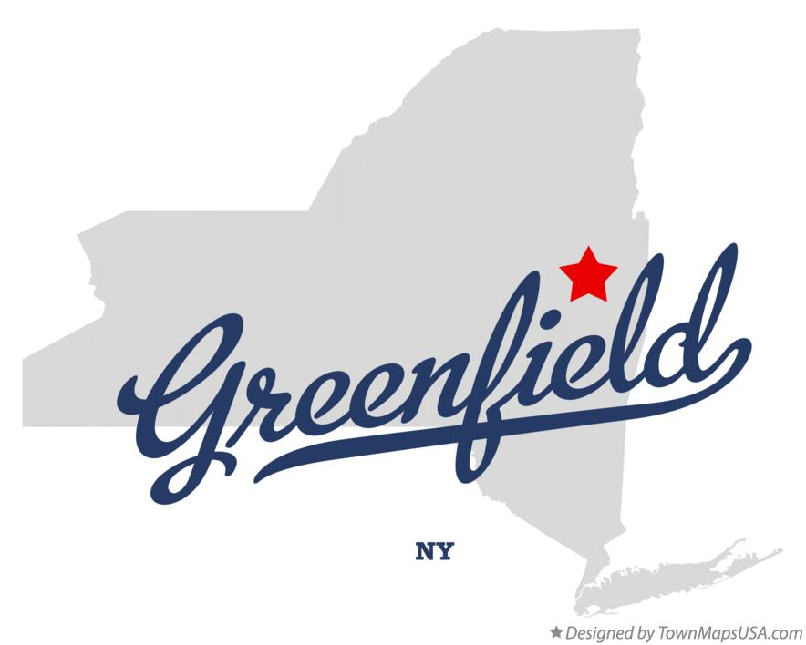 Map of Greenfield New York NY