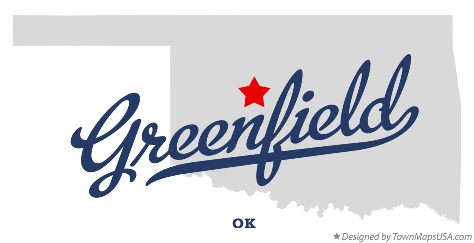 Map of Greenfield Oklahoma OK