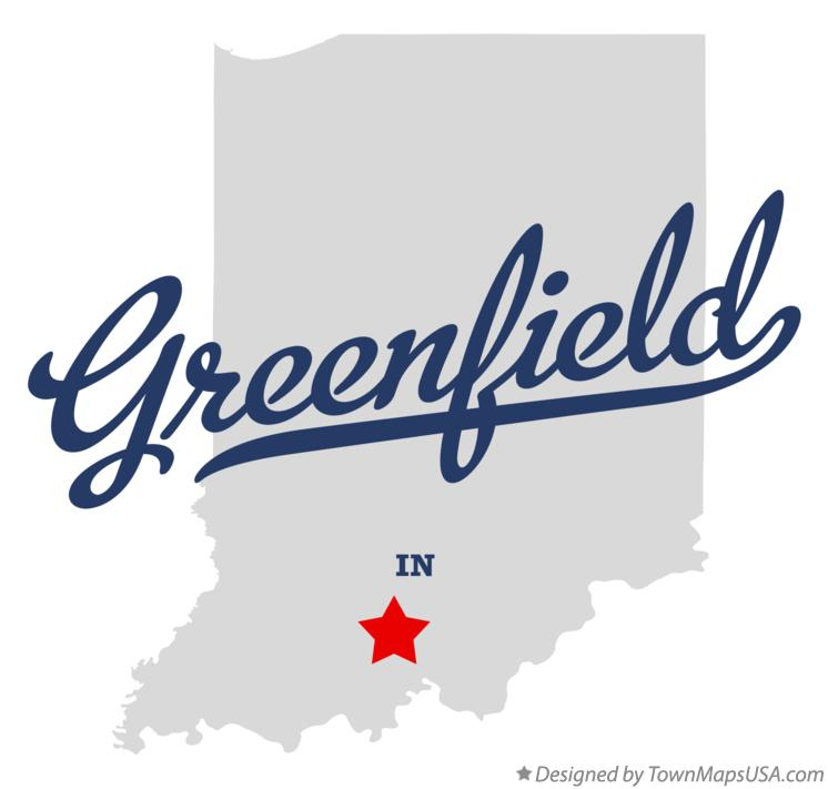 Map of Greenfield Indiana IN