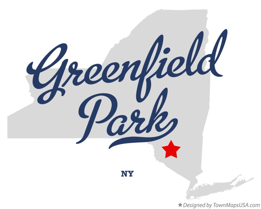 Map of Greenfield Park New York NY