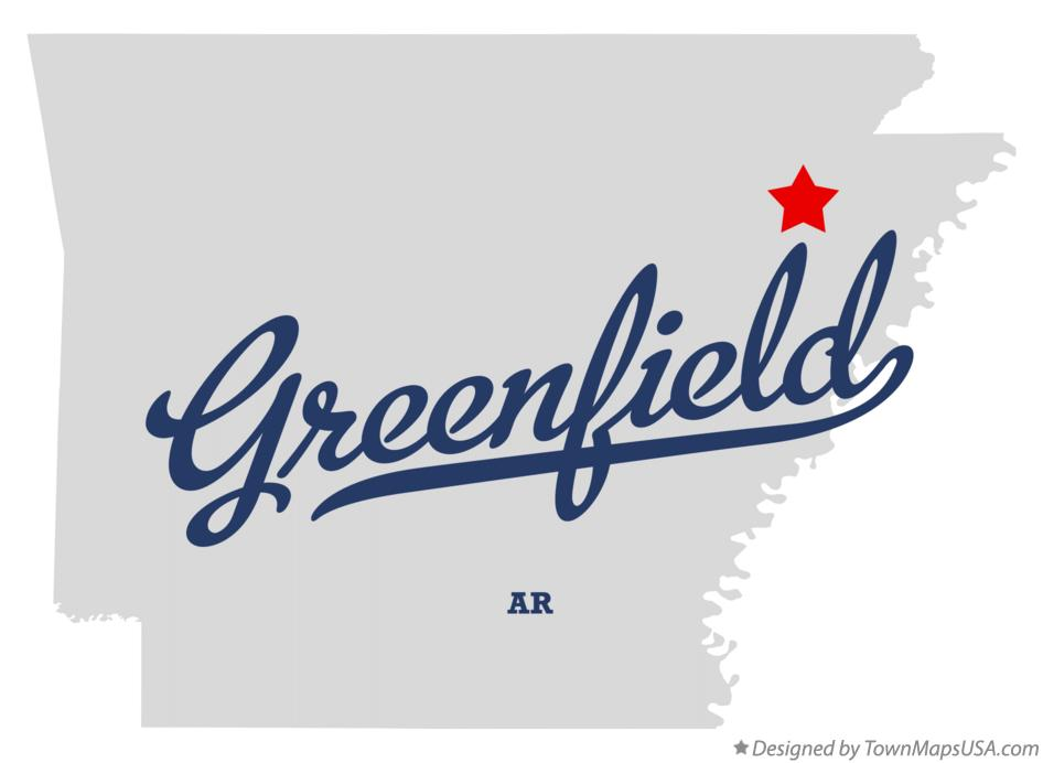 Map of Greenfield Arkansas AR