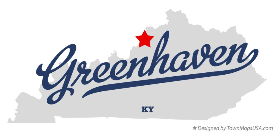 Map of Greenhaven Kentucky KY