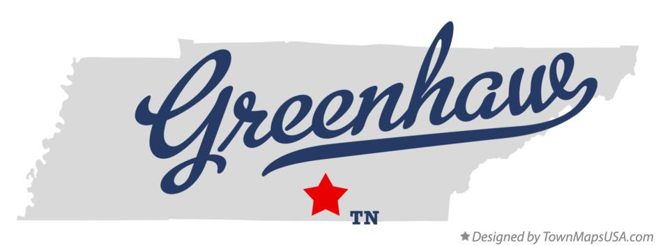 Map of Greenhaw Tennessee TN