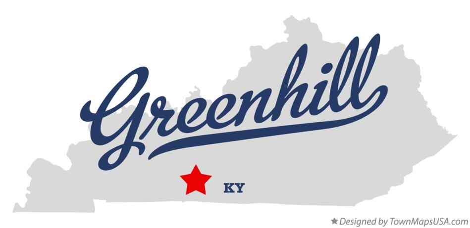 Map of Greenhill Kentucky KY