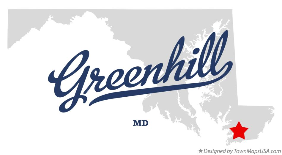 Map of Greenhill Maryland MD