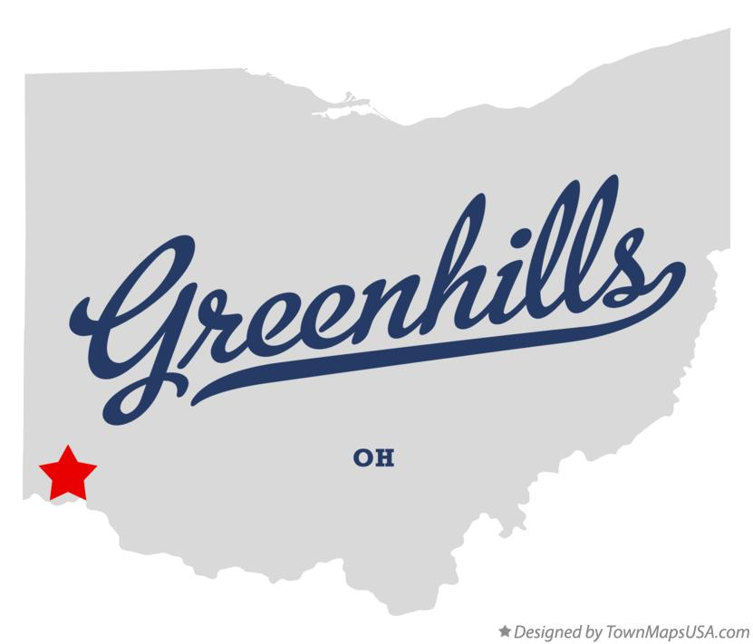 Map of Greenhills Ohio OH