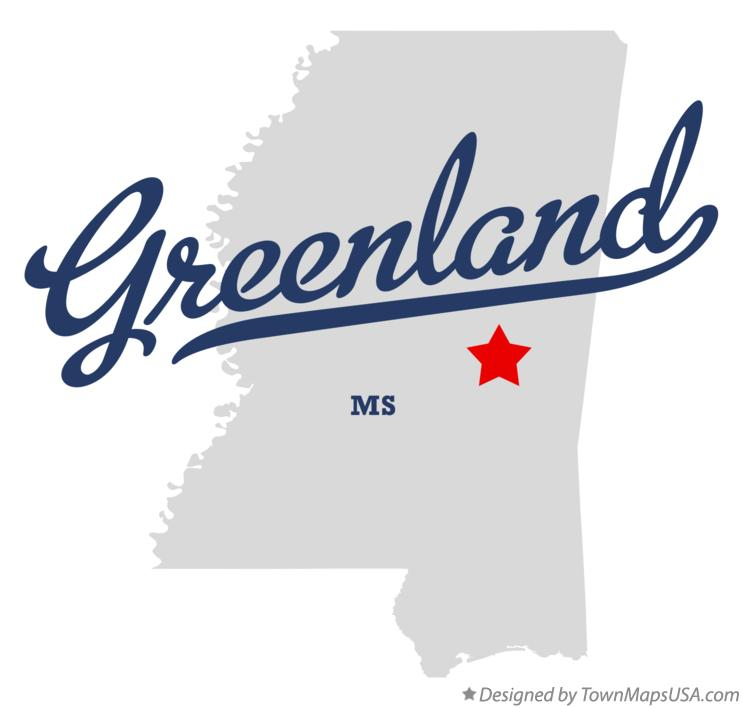 Map of Greenland Mississippi MS