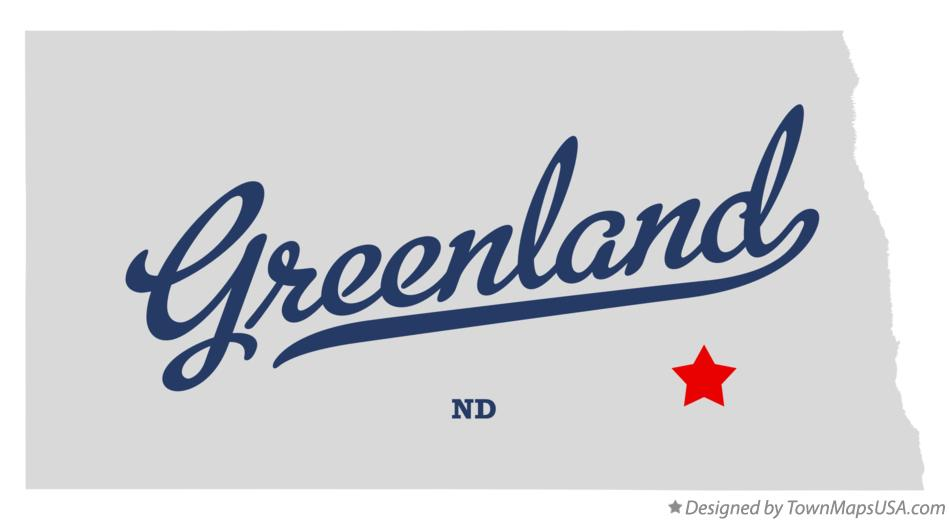 Map of Greenland North Dakota ND