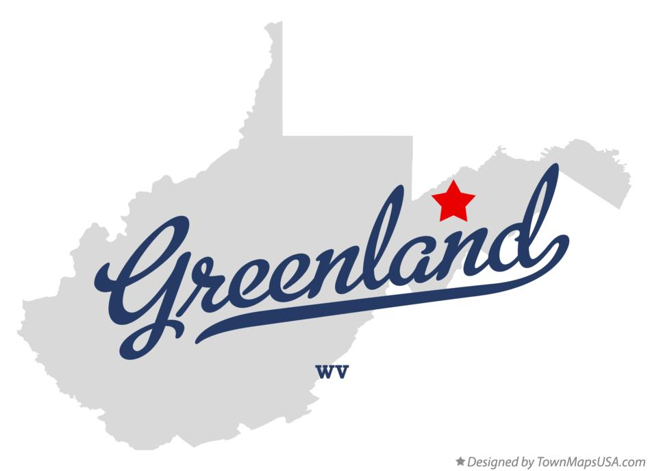 Map of Greenland West Virginia WV
