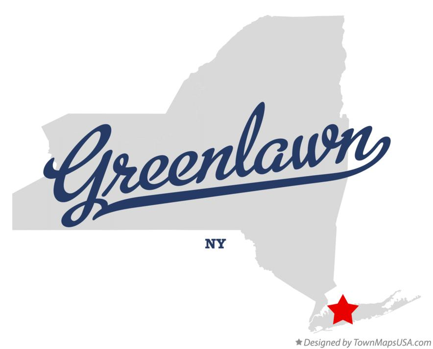 Map of Greenlawn New York NY