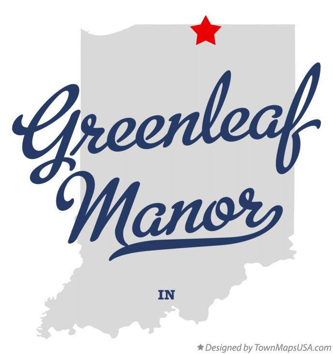 Map of Greenleaf Manor Indiana IN