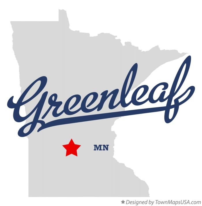 Map of Greenleaf Minnesota MN